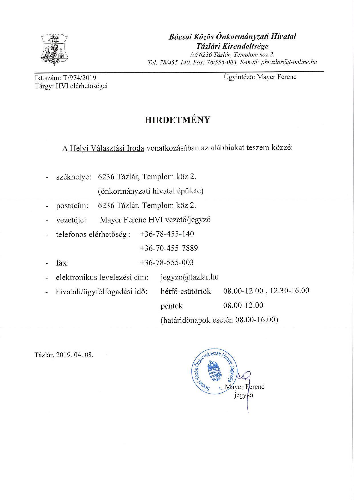 0b63ea4b49 Hírek - Tázlár.net